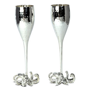 Octopus Champagne Goblets