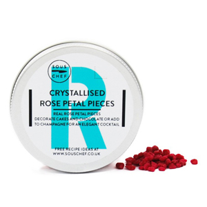 Crystallised Rose Petal Pieces 40g