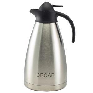 Decaf Inscribed Contemporary Vacuum Jug 2ltr