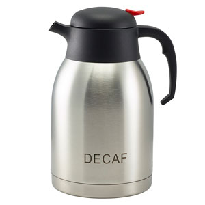 Decaf Inscribed Stainless Steel Vacuum Jug 2ltr