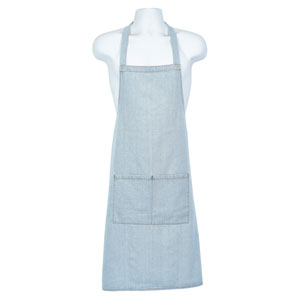 Genware Light Blue Denim Bib Apron 70 x 90cm