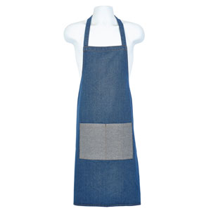 Genware Double Denim Bib Apron 70 x 90cm