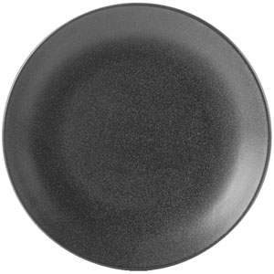 Seasons Graphite Coupe Plate 12inch / 30cm