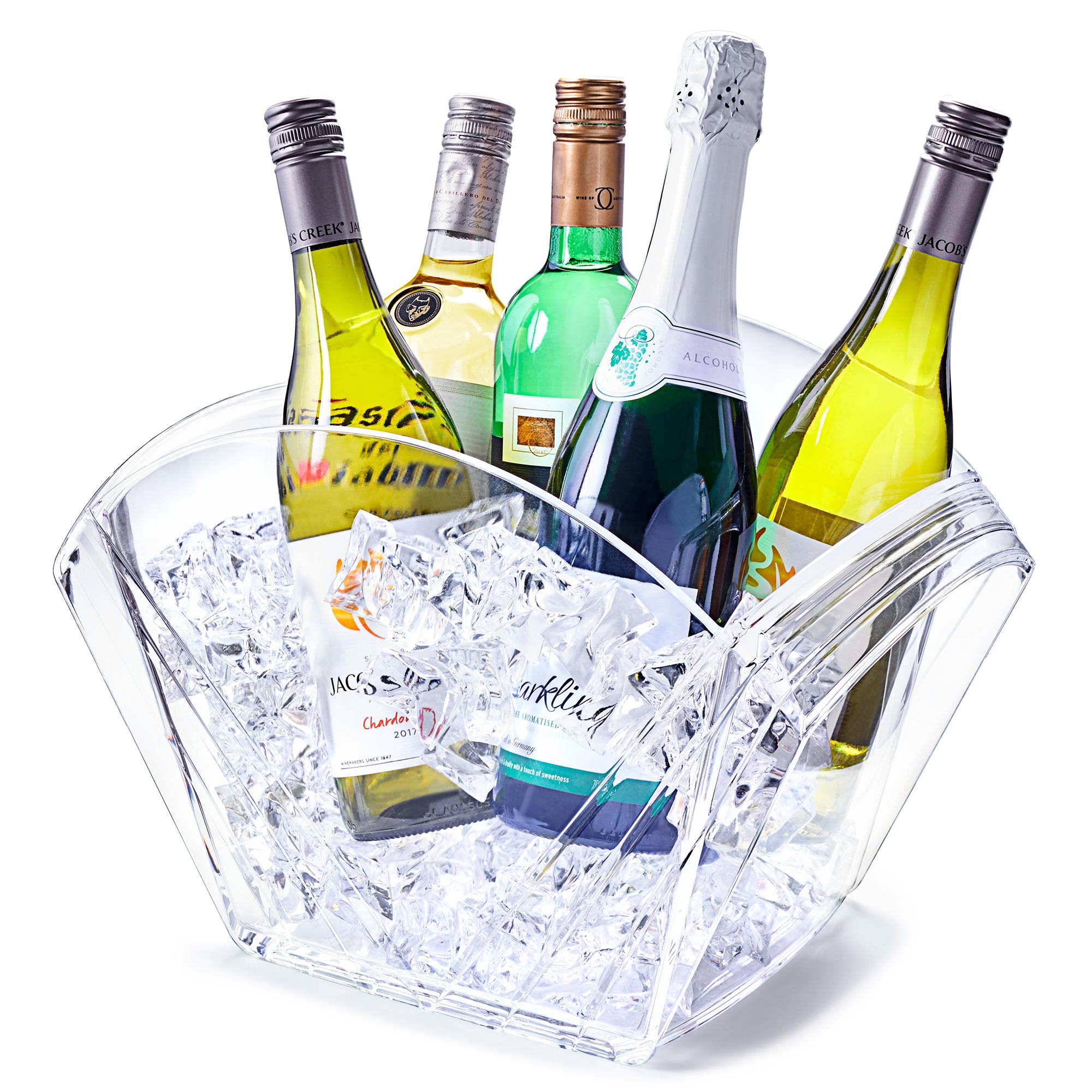 Champagne Bucket Drinks Pail Bottle Bucket Glacier Acrylic Tulip Party Tub Wine Bucket Humidors