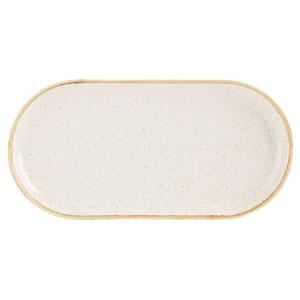 Seasons Oatmeal Narrow Oval Plate 12inch / 30cm