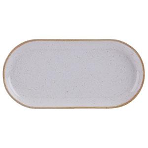 Seasons Stone Narrow Oval Plate 32 x 20cm
