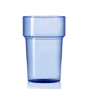Econ Rigid Polystyrene HiBall Tumblers Neon Blue 10oz / 284ml