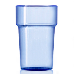 Econ Rigid Polystyrene Pint Glasses Neon Blue CE 20oz / 568ml