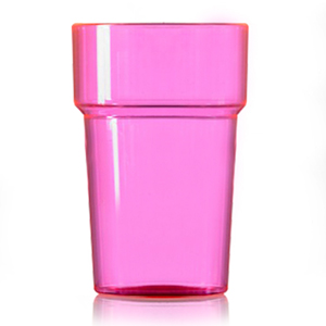 Econ Polystyrene Pint Glasses CE Neon Pink 20oz / 568ml