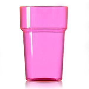 Econ Polystyrene Pint Glasses CE Neon Pink 20oz / 568ml