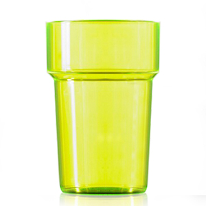 Econ Polystyrene Pint Glasses CE Neon Yellow 20oz / 568ml