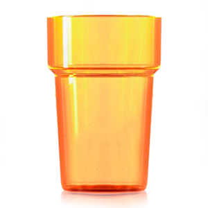 Econ Polystyrene Pint Glasses CE Neon Orange 20oz / 568ml