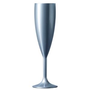 Elite Premium Polycarbonate Champagne Flutes Silver 6.6oz / 187ml