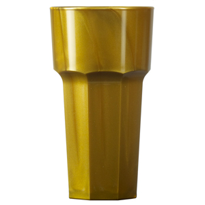 Elite Remedy Polycarbonate Hiball Tumblers Gold 12oz / 340ml