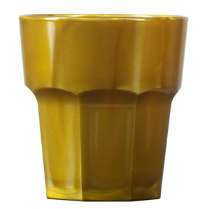 Elite Remedy Polycarbonate Rocks Tumblers Gold 9oz / 256ml