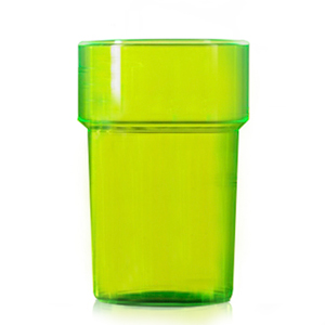 Econ Polystyrene Half Pint Glasses CE Neon Green 10oz / 284ml