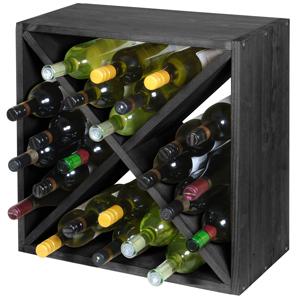 Wine Cellar Cube Black Ash 300mm - 24 Bottle