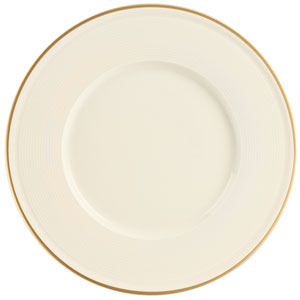 """Academy Event Gold Band Flat Plate 20cm/8"""""""