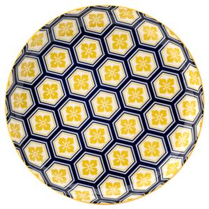 Cadiz Blue & Yellow Plate 8inch / 20cm