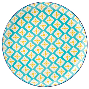 Cadiz Blue & Yellow Plate 10.5inch / 27cm