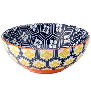 Cadiz Blue & Orange Bowl 6.3inch / 16cm