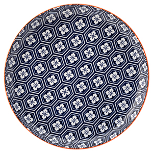 Cadiz Blue & Orange Plate 10.5inch / 27cm