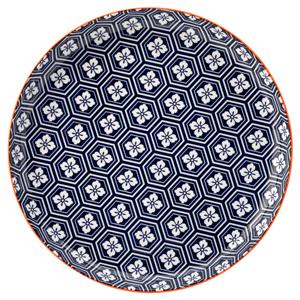 Cadiz Blue & Orange Plate 10.5inch / 27cm