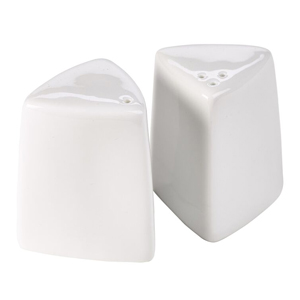 Royal Genware Triangular Salt and Pepper Pots