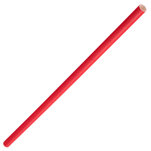 Solid Paper Straws Red 8inch