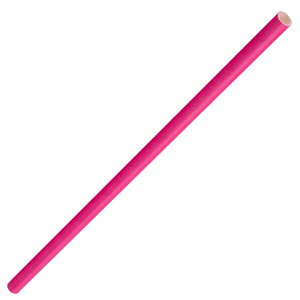 Solid Paper Straws Pink 8inch