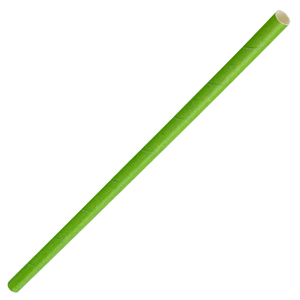 Solid Paper Straws Green 8inch