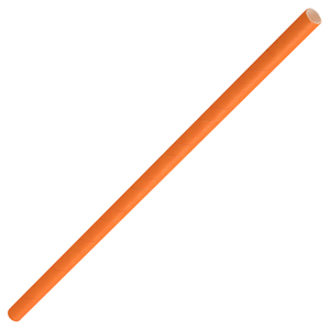 Solid Paper Straws Orange 8inch