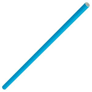 Solid Paper Straws Blue 8inch