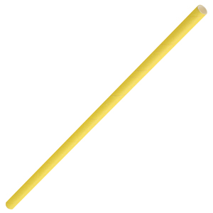 Solid Paper Straws Yellow 8inch
