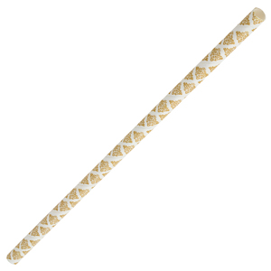 Gold Filigree Paper Straws 8inch