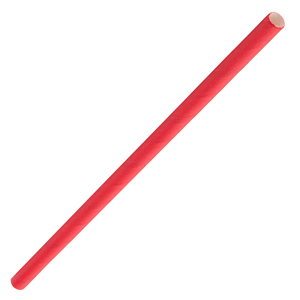 Solid Paper Cocktail Straws Red 5.5inch