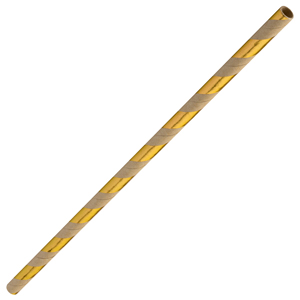 Gold & Brown Paper Straws 8inch