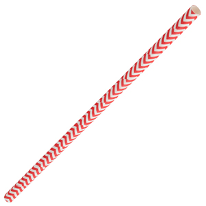 Chevron Paper Straws Red 8inch