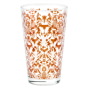 Parma Cocktail Shaker Glass Bronze Chase 16oz / 450ml