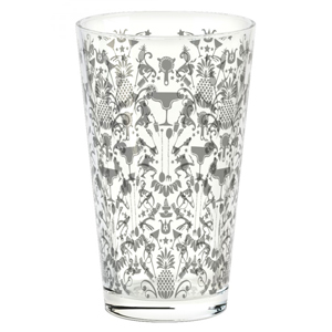Parma Cocktail Shaker Glass Silver Chase 16oz / 450ml
