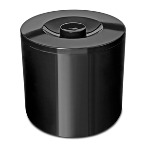 Plastic Insulated Ice Bucket Black 4ltr