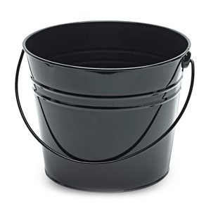 Large Metal Beer Bucket Black