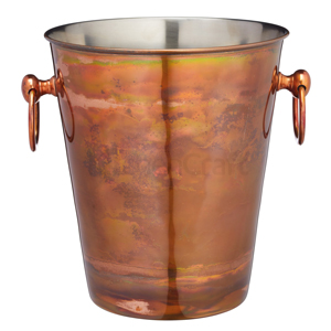 BarCraft Stainless Steel Wine Bucket with Iridescent Copper Finish