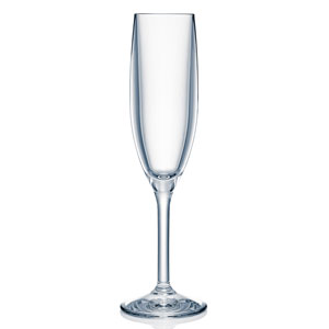 Strahl Design + Contemporary Polycarbonate Champagne Flutes 5.5oz / 166ml