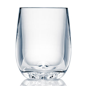 Strahl Design + Contemporary Polycarbonate Stemless Osteria Glass 8oz / 247ml