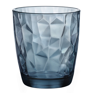 Diamond Double Old Fashioned Tumblers Ocean Blue 13.7oz / 390ml