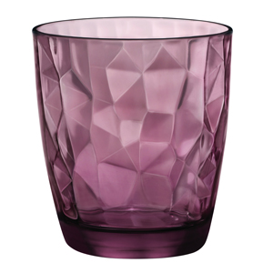 Diamond Double Old Fashioned Tumblers Rock Purple 13.7oz / 390ml