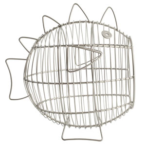 Ocean Fish Basket In Satin Grey