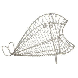Ocean Whale Basket in Satin Grey