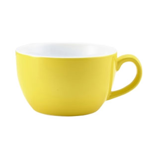 Royal Genware Bowl Shaped Cup Yellow 8.75oz / 250ml